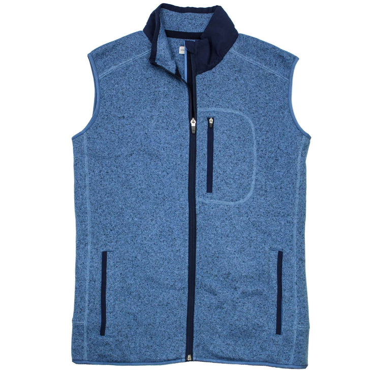Southern Proper - Field Fleece Vest: Heather Denim