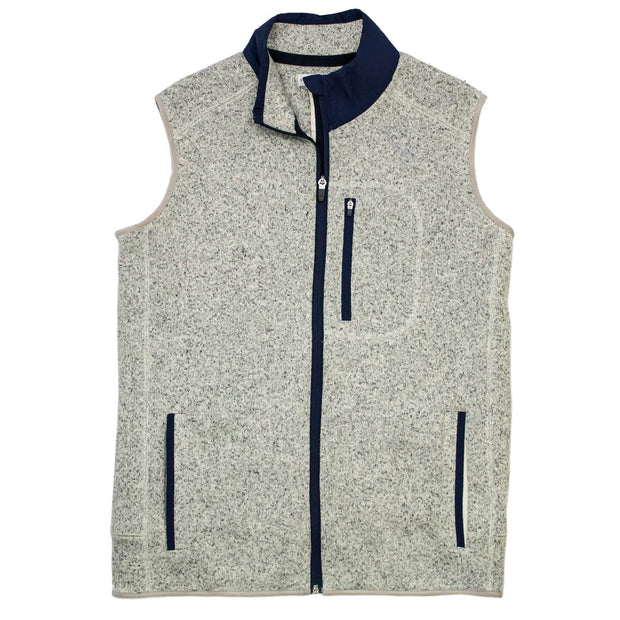 Southern Proper - Field Fleece Vest: Heather Proper Grey