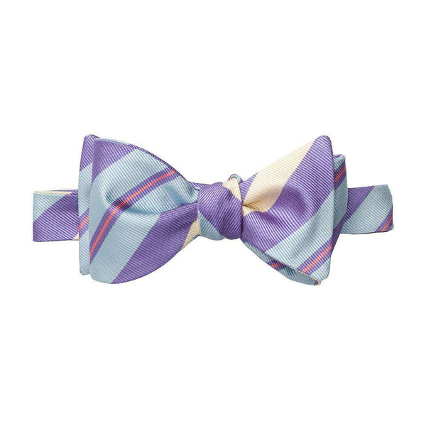 Southern Proper - Mellow Yellow Stripe Bow - Purple