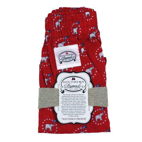 "Southern Proper - Red ""Party In Your Pants"" GOP Southern Drawls"