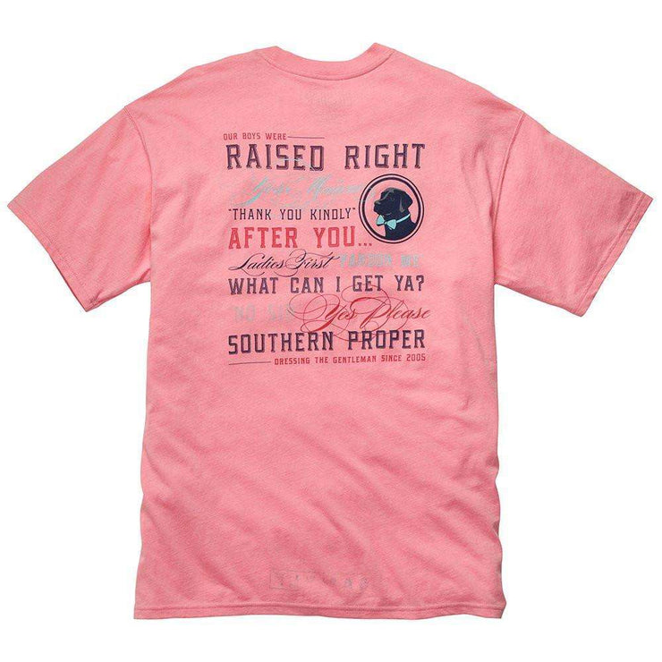 Southern Proper - Raised Right Tee - Salmon