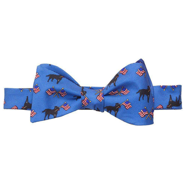Southern Proper - Labs & Flags Bow: Blue