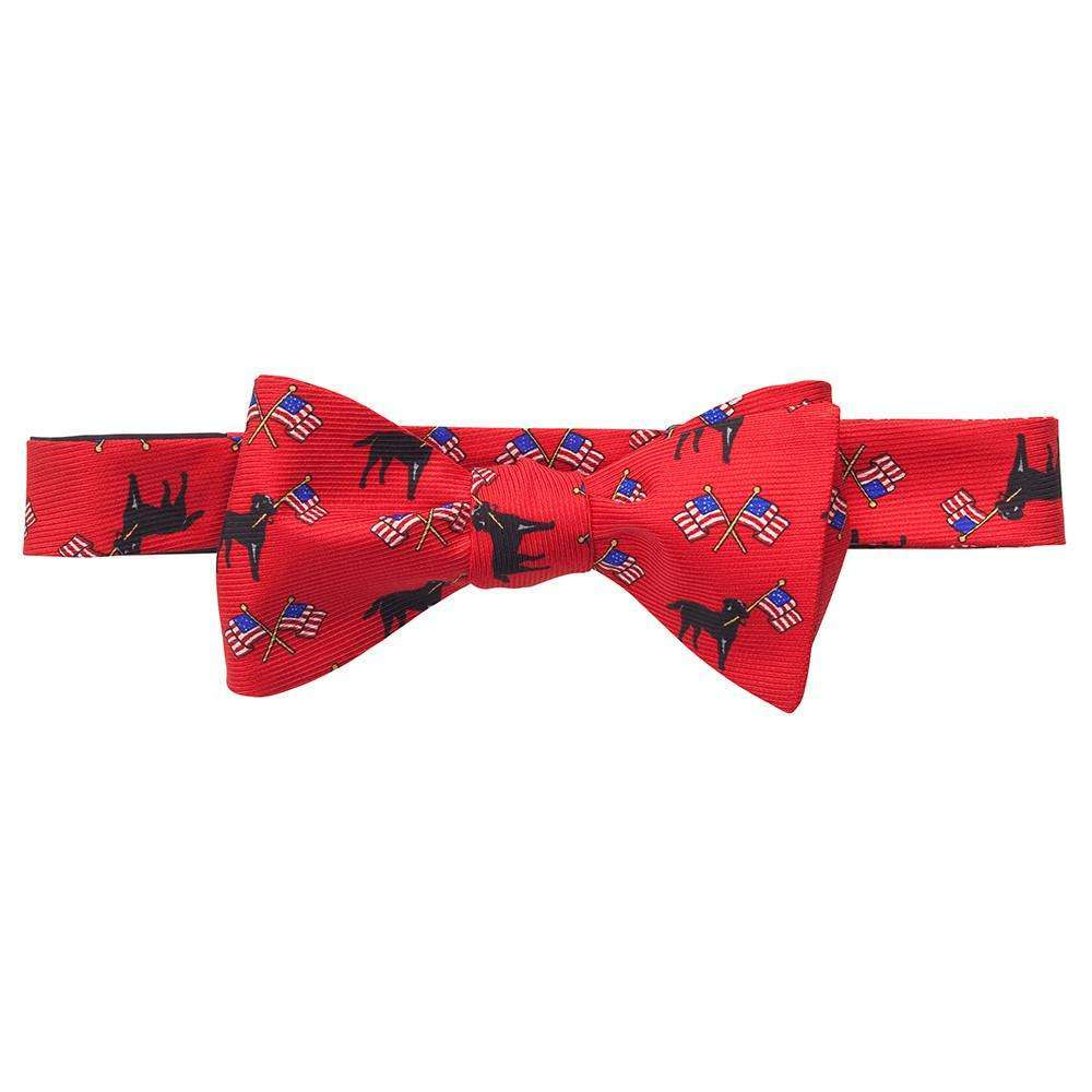 Labs & Flags Bow: Red