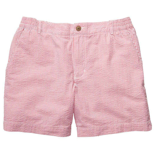 Southern Proper - Seersucker Short - Red