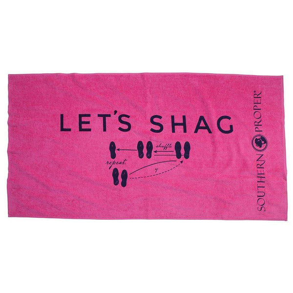 Southern Proper - Let's Shag Beach Towel