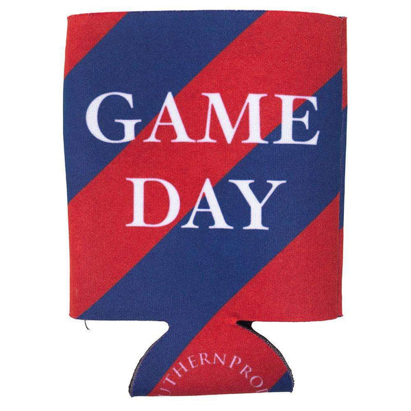 Southern Proper - Navy & Red Gameday Coozie