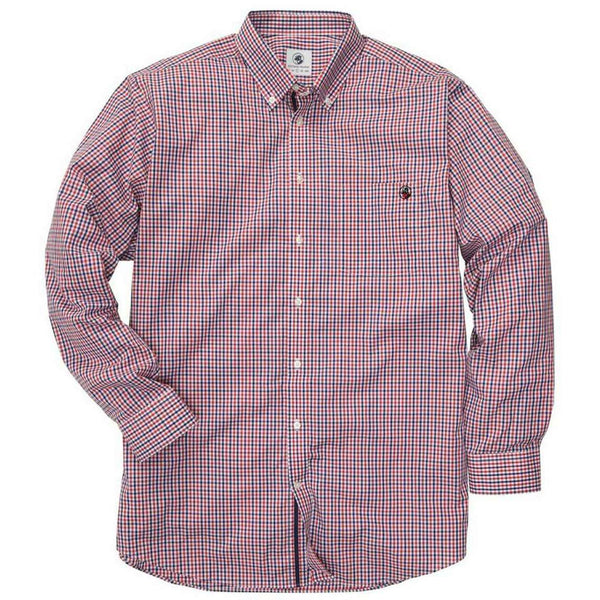 Southern Proper - The Goal Line Shirt - Navy/Red Check