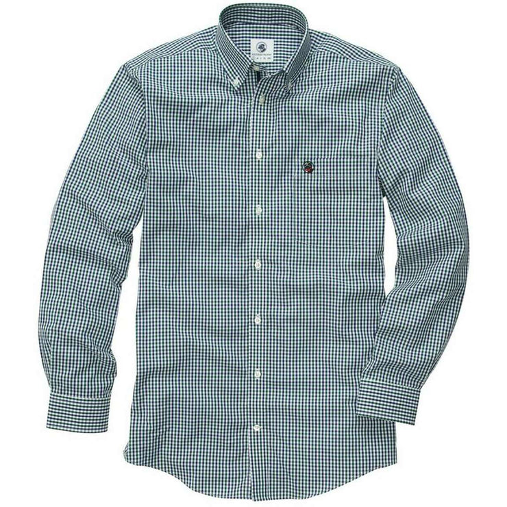 Southern Proper - The Goal Line Shirt - Green/Navy Check
