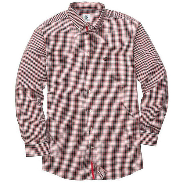 Southern Proper - Goal Line Shirt: Red/Black Check