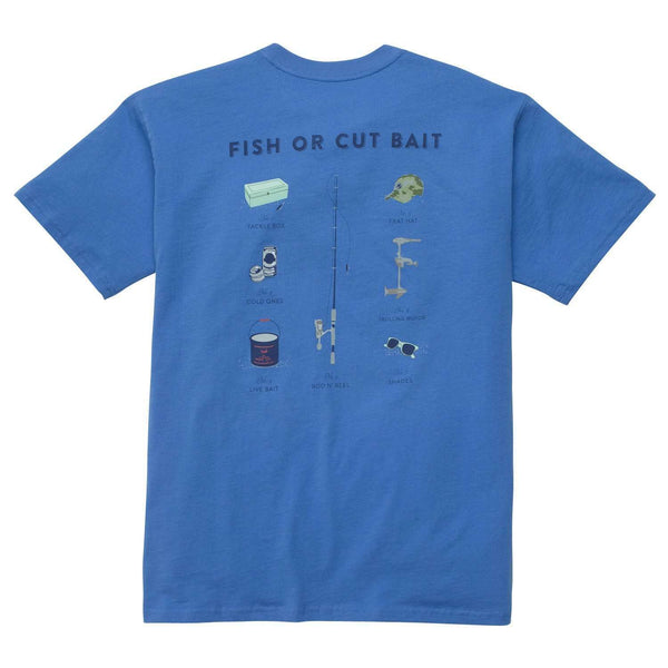 Southern Proper - Fish or Cut Bait Tee: Blue