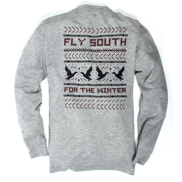 Southern Proper - Fly South Tee: Heather Grey Long Sleeve