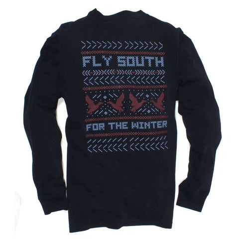 Southern Proper - Fly South Tee: Midnight Blue Long Sleeve