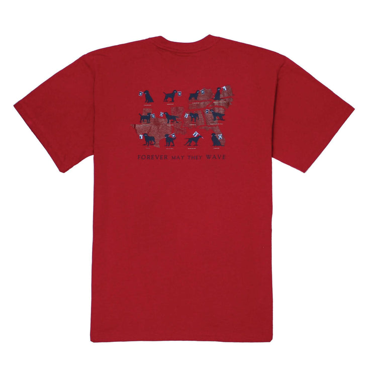 Southern Proper - Forever May They Wave Tee: Barn Red