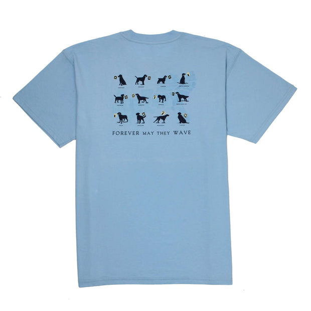 Southern Proper - Forever May They Wave Tee: Oxford Blue