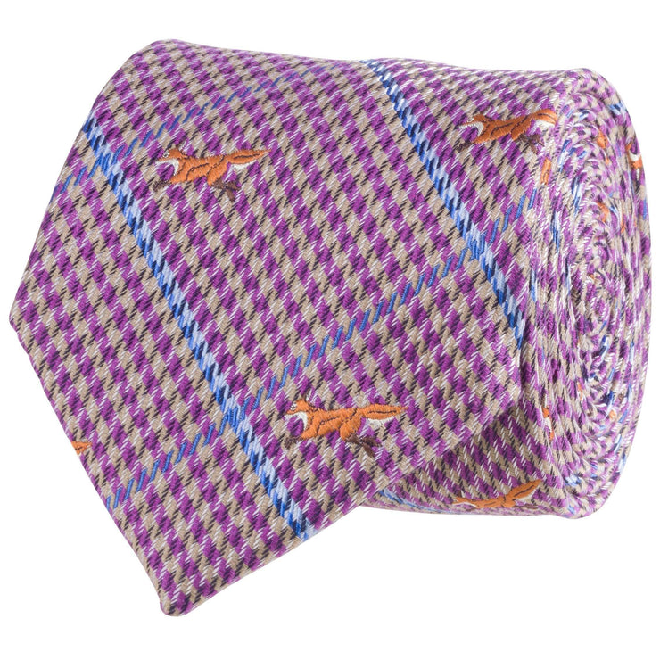 Southern Proper - Fox Tie: Purple
