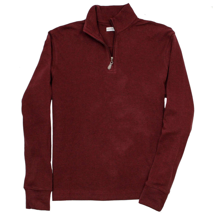 Southern Proper - Gates Quarterzip: Heather Wine