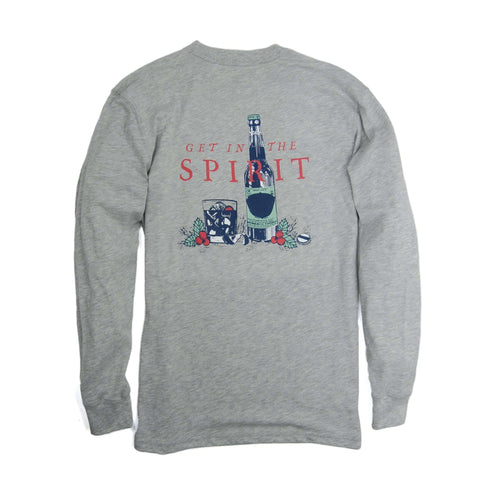 Southern Proper - Get In The Spirit Tee: Heather Grey