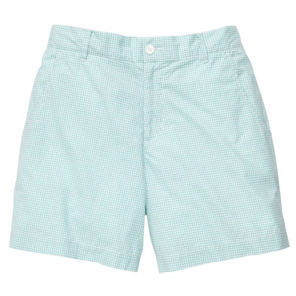 Southern Proper - Gingham Short: Duck Egg
