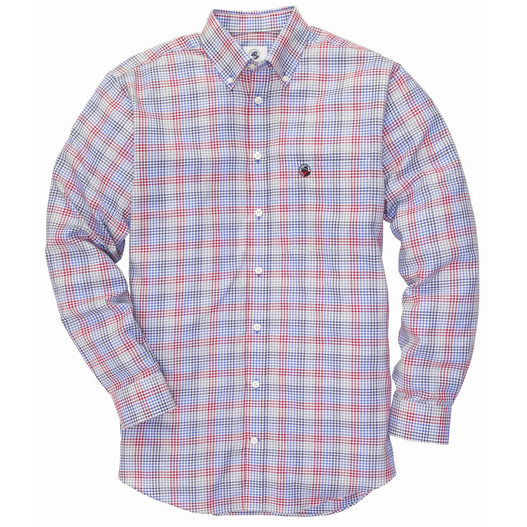 Southern Proper - The Goal Line: Red/Blue Multi Check