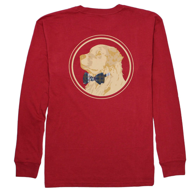 Southern Proper - Golden Logo Long Sleeve Tee: Barn Red
