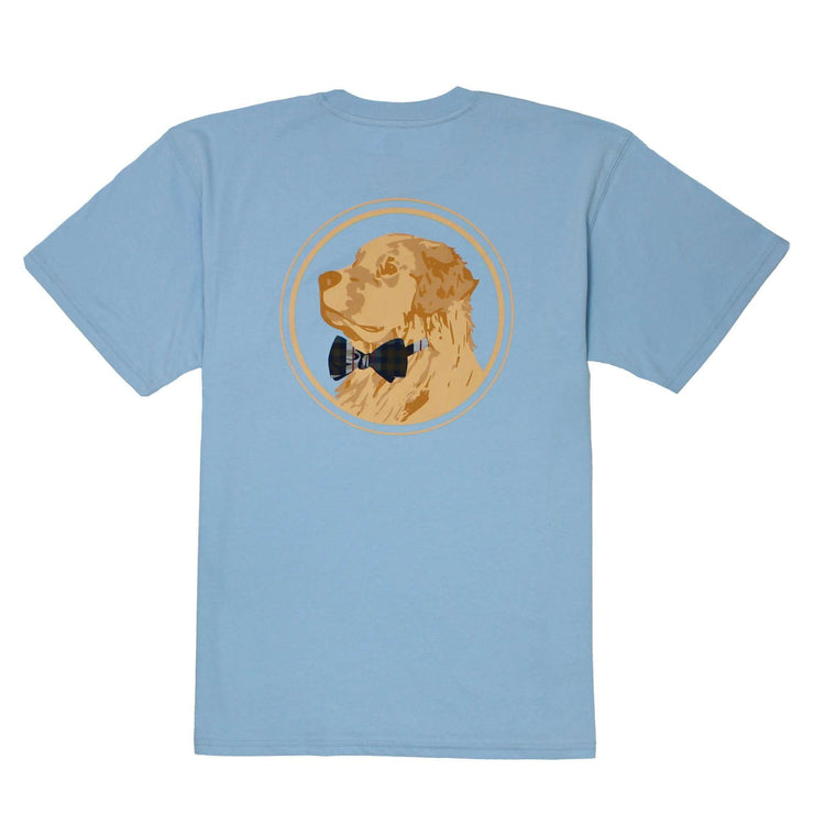Southern Proper - Golden Logo Tee: Oxford Blue