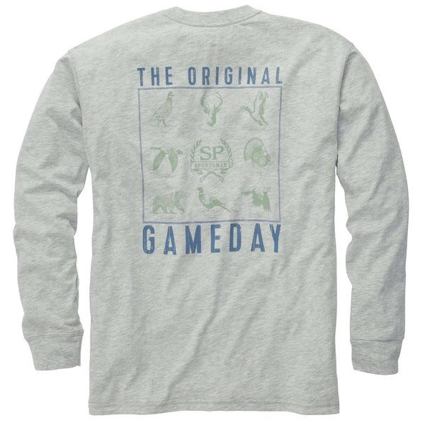 Southern Proper - The Original Gameday Tee: Lt. Grey Heather Long Sleeve