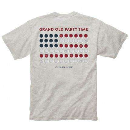 Southern Proper - Grand Old Party Tee: Heather Grey