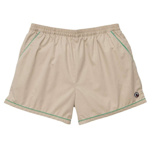 Southern Proper - Hackett Short: Khaki with Green