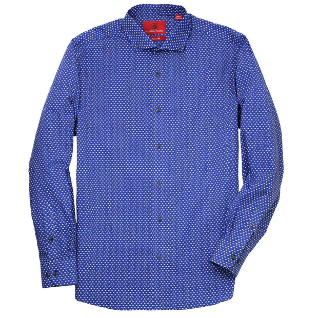 Southern Proper - Henning Shirt: River Blue Labs