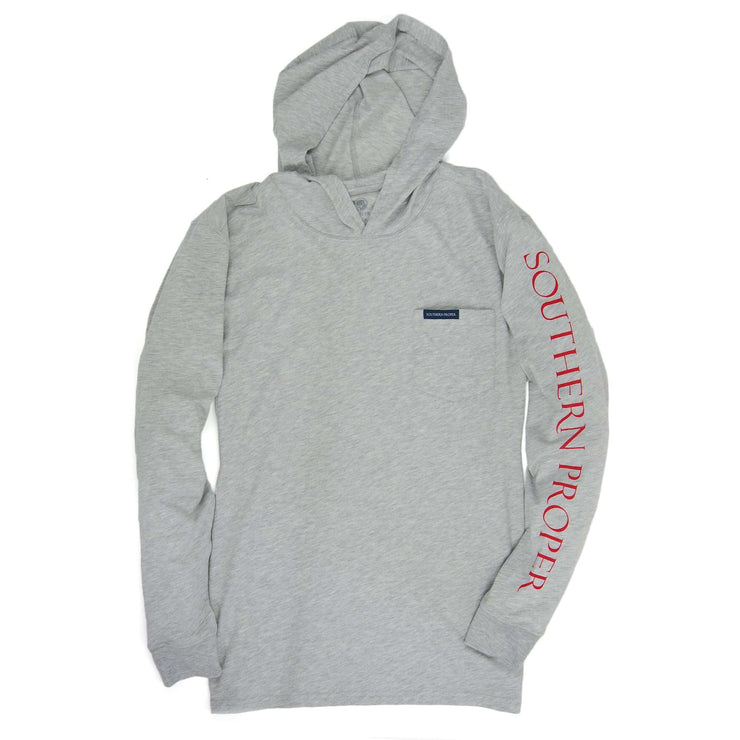 Southern Proper - Hoodie Tee: Heather Grey