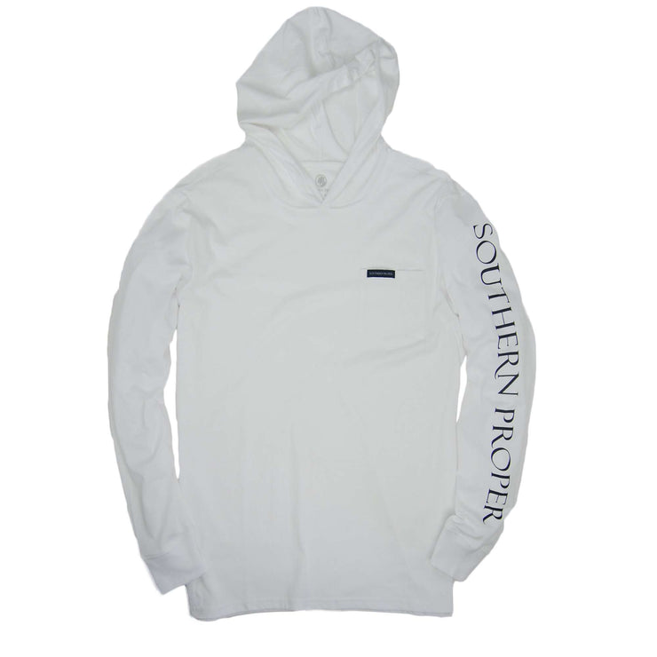 Southern Proper - Hoodie Tee: White