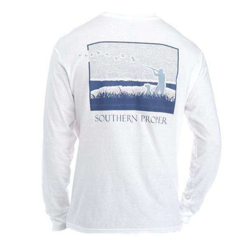Southern Proper - Hunt Club: White Short Sleeve