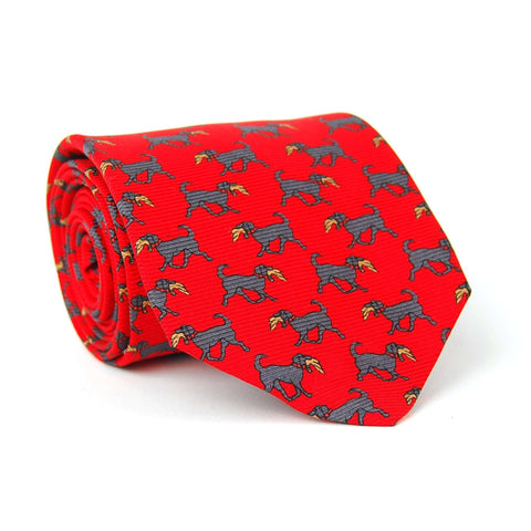 Southern Proper - Hunting Lab Tie - Red