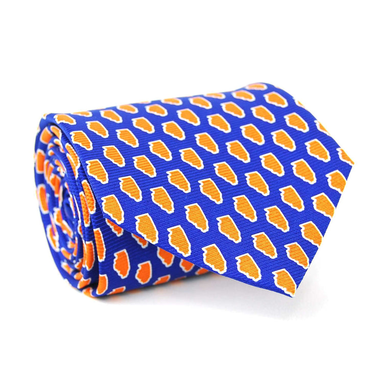 Southern Proper - Illinois Gameday Tie: Navy