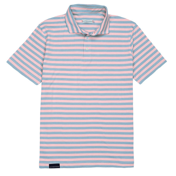 Southern Proper - Covington Polo: Skyway Stripe