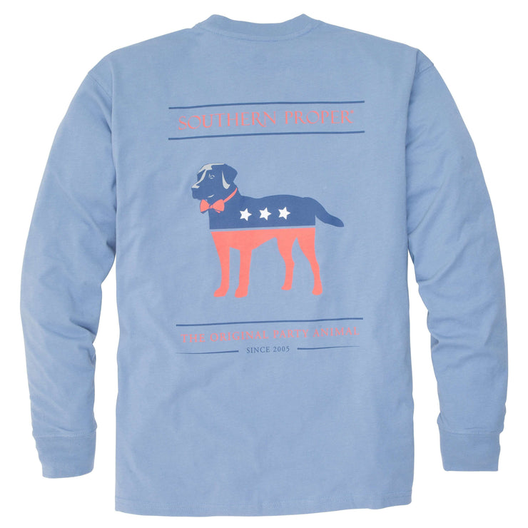 Southern Proper - Party Animal Tee: Allure Long Sleeved