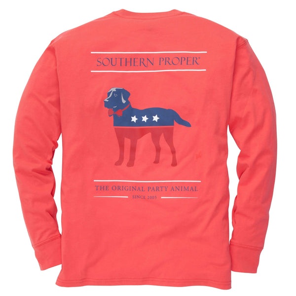 Southern Proper - Party Animal Tee: Poinsettia Long Sleeve