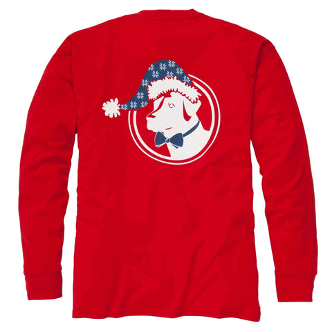 Southern Proper - Santa Lab Tee: Red Long Sleeve