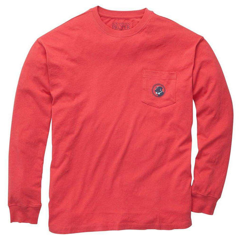 Southern Proper - House Rules Tee - Red Long Sleeve