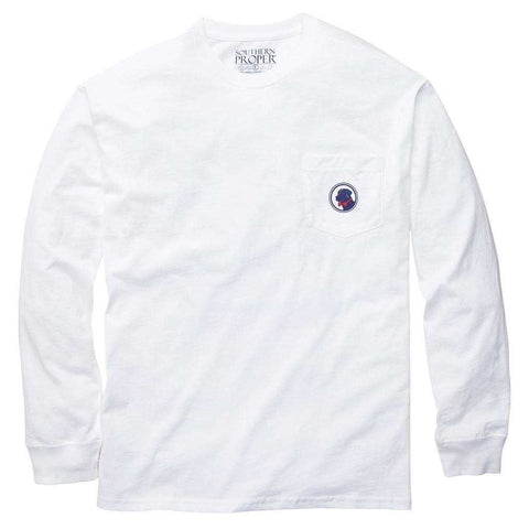 Southern Proper - House Rules Tee - White Long Sleeve