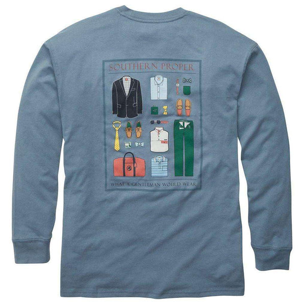 Southern Proper - What A Gentleman Would Wear - Blue/Grey Long Sleeve