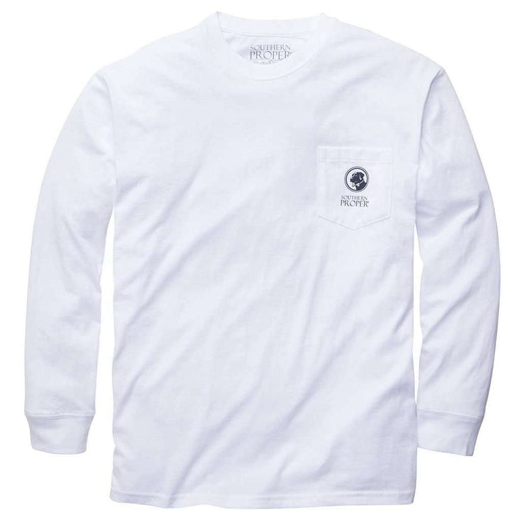 Southern Proper - What A Gentleman Would Wear - White- Long Sleeve