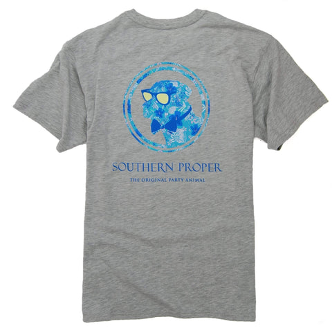 Southern Proper - Island Dog Tee: Heather Grey