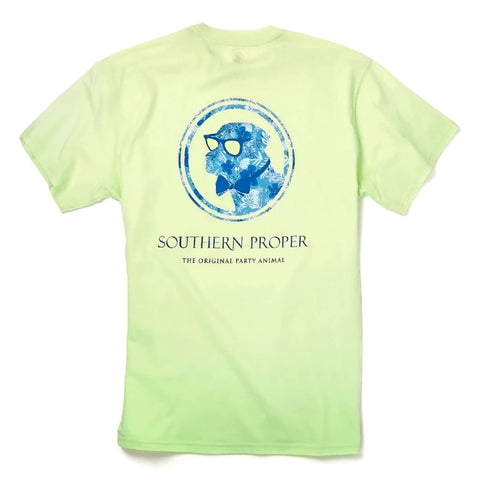 Southern Proper - Island Dog Tee: Lime Cream