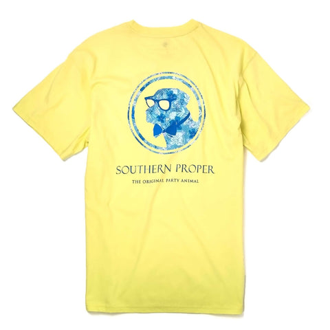 Southern Proper - Island Dog Tee: Yellow