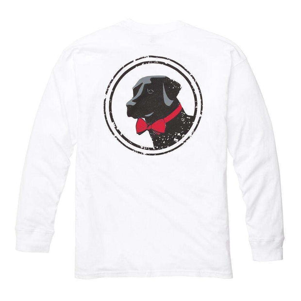 Southern Proper - Original Logo Tee: White Long Sleeve