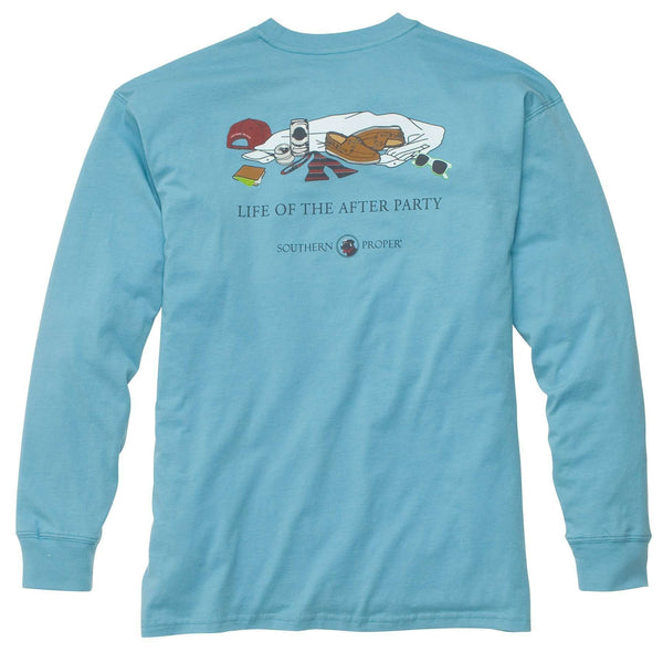 Southern Proper - Life of the After Party: Retro Blue Long Sleeve