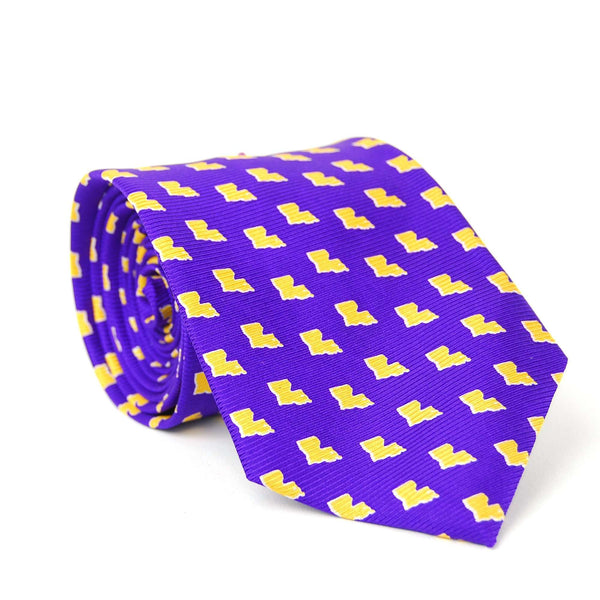 Southern Proper - Louisiana Gameday Tie: Purple