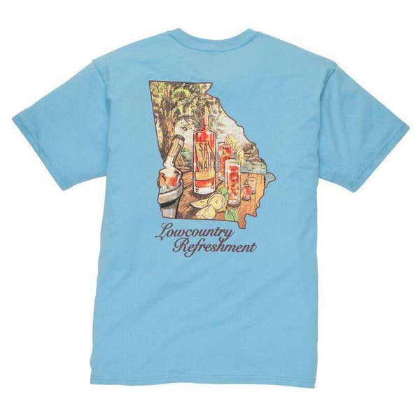 Southern Proper - Lowcountry Refreshment Tee: Retro Blue