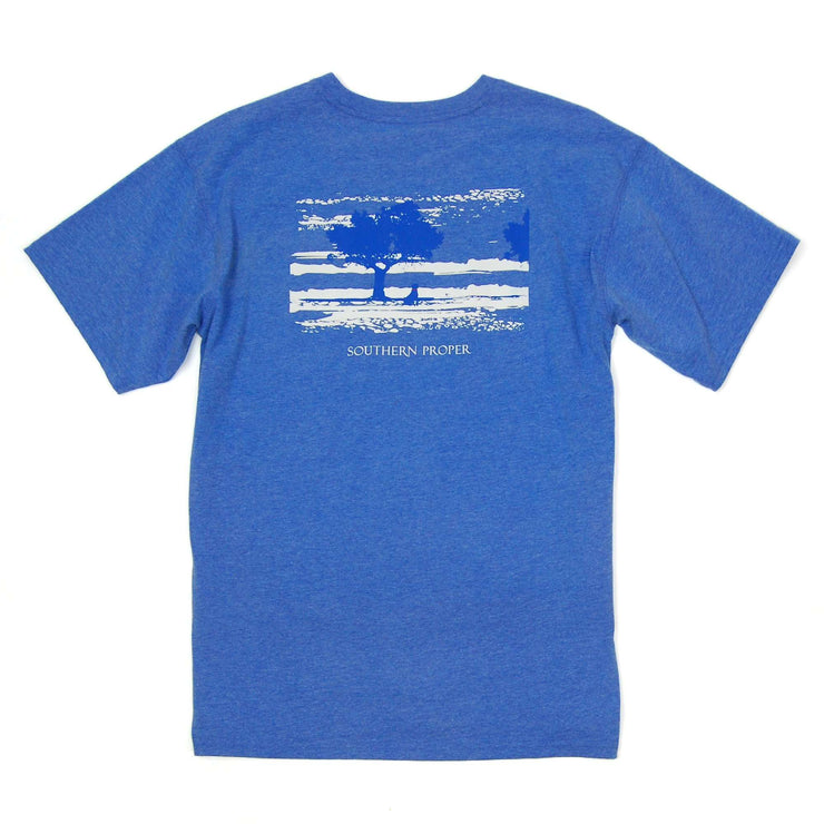 Southern Proper - Marsh Dog Tee: Heather Paddle Blue